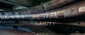 Sala de control del reactor de la Central Nuclear V.I. Lenin de Chernóbil