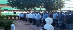 Presidente de Cuba, Miguel Díaz-Canel, encabezando el acto de inauguración de la nueva sede de la Universidad de Artemis