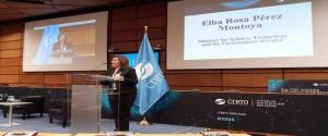 Elba Rosa Pérez Montoya, ministra de Ciencia, Tecnología y Medio Ambiente (CITMA)