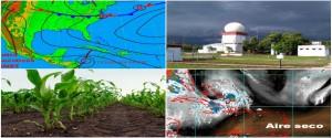 Cartel alegórico a estudios realizados sobre el clima en Cuba