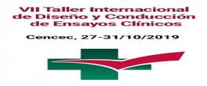 Cartel alegórico al VII Taller Internacional de Diseño y Conducción de Ensayos Clínicos