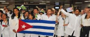 Miembros del Contingente Internacional de Médicos Especializados en Situaciones de Desastres y Graves Epidemias Henry Reeves. Foto: Ismael Batista/Granma.