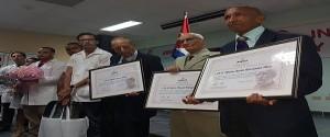 Premio al Mérito Científico por la Obra de la Vida: Dr. Alfredo Abreu, Dr. Héctor Manuel Rodríguez y Dr. Nibaldo Hernández