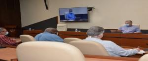 Reunión del Consejo de Ministros donde se chequeó el tema de la agricultura. Foto tomada de Cubadebate.