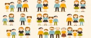 Cartel alegórico a las familias
