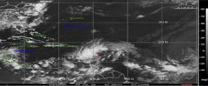 Extensa área de bajas presiones con nublados, lluvias y tormentas eléctricas