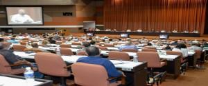 Reunión en el Palacio de las Convenciones con las Juntas de Gobierno