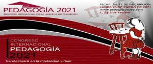 Cartel alegórico al congreso Pedagogía 2021