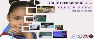 Cartel alegórico al Día internacional de las Mujeres y las niñas en las Ciencias