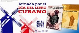Cartel alegórico a la Jornada por el Día del Libro Cubano