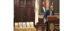 """Presentación de la obra """"Nueva Historia Universal"""" en el Aula Magna de la Universidad de La Habana"""