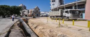 Trabajos en la conductora de agua potable, desde los tanques de Palatino hasta La Habana Vieja. Foto: Ariel Cecilio Lemus