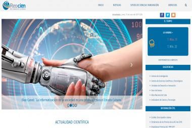 Página incial del Portal de la Red Cubana de la Ciencia