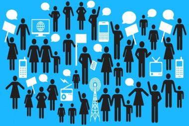 Cartel alegórico comunicación y el acceso a Internet