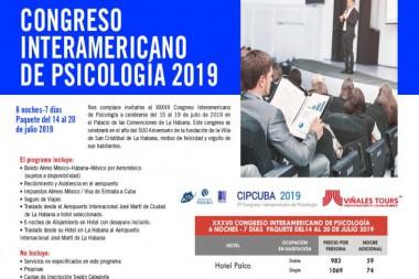 Cartel alegórico al Congreso interameriano de Psicología (CIPCUBA 2019)