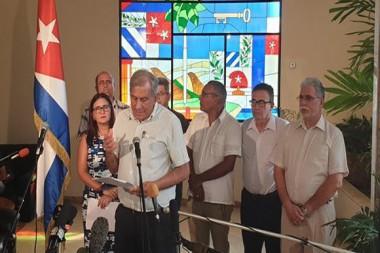 Doctor en Ciencias Mitchell Joseph Valdés-Sosa, director General del Centro de Neurociencias de Cuba ofrece declaraciones a la prensa en la Cancillería