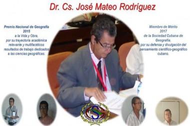 Dr. Cs. José Mateo Rodríguez, Premio Nacional de Geografía 2015