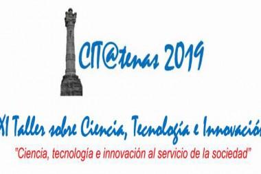 """Logo del  XI Taller sobre Ciencia, Tecnología e Innovación, """"CIT@Tenas 2019¨"""