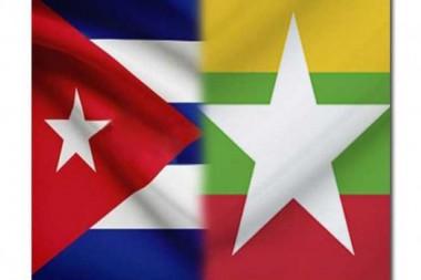 Banderas de Cuba y Myanmar