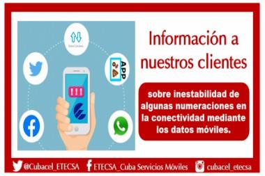 ETECSA extiende vigencia de los paquetes de datos tras afectaciones en sus servicios