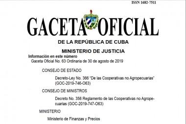 Nuevas normas jurídicas sobre cooperativas no agropecuarias