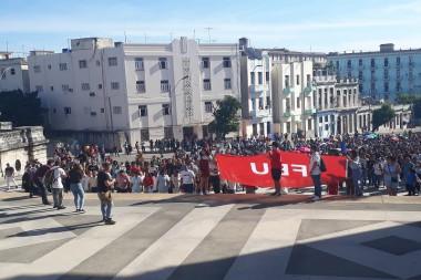 Inicio del curso escolar en la Universidad de La Habana
