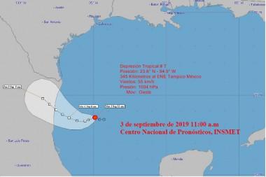 Nueva depresión tropical en el Golfo de México