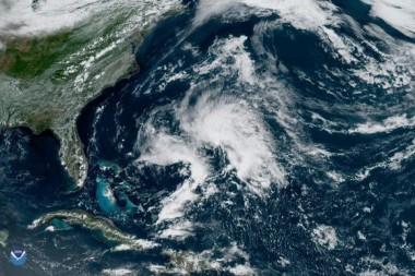 tormenta subtropical Andrea en el Atlántico noroccidental el 20 de mayo de 2019. Imagen: NOAA