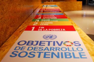 Cartel alegórico a los  Objetivos de Desarrollo Sostenible