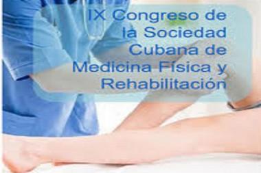Cartel alegórico al IX Congreso de la Sociedad Cubana de Medicina Física y Rehabilitación