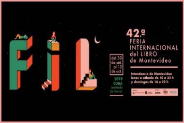 Cartel alegórico a la edición 42 de la Feria Internacional del Libro de Montevideo