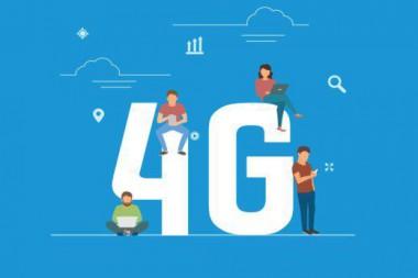 Cartel alegórico a la tecnología 4G