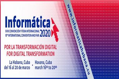 Cartel alegórico a la XVIII edición de la Convención y Feria Internacional Informática 2020