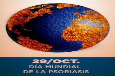 Cartel alegórico al 29 de octubre, Día Mundial de la Psoriasis