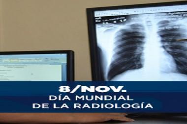 Cartel alegórico al 8 de noviembre, Día Mundial de la Radiología
