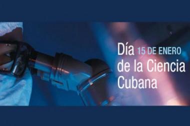 Cartel alegrrico al Día de la Ciencia Cubana