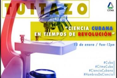 Cartel alegórico al Tuitazo por el Día de la Ciencia Cubana