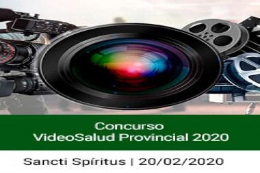 Cartel alegórico al Concurso Audiovisual VideoSalud Provincial 2020