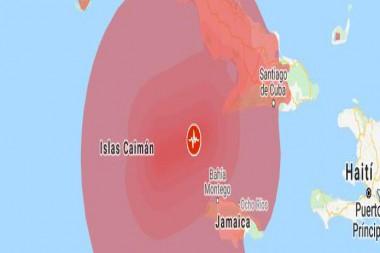 Radio de acción del sismo de magnitud 7.1 en la escala de Richter en el Caribe de este 28 de enero. Foto: Internet
