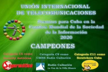 Proyectos de Cuba campeones de los Premios de la Sociedad de la Información 2020