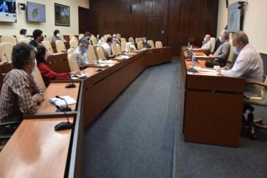 Reunión del Gobierno para el enfretamiento a la COVOD-19 en Cuba