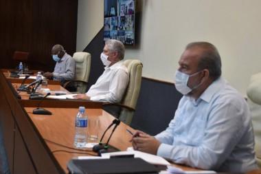 Reunión del grupo temporal para la prevención y el control de la COVID-19