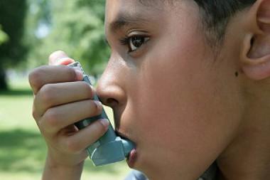 Persona con asma