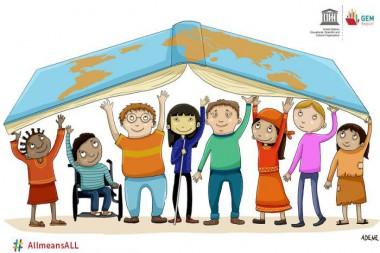 El Informe de Seguimiento de la Educación en el Mundo 2020 se titula «Inclusión y educación: todos, sin excepción». Foto: UNESCO