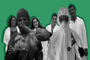 Cartel alegórico a la Salud Pública de Cuba