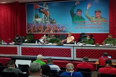 Reunión del  Consejo de Defensa Provincial (CDP) en Camagüey