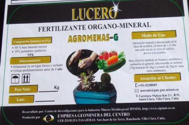Fertilizante Agromenas-G Foto: Freddy Pérez Cabrera