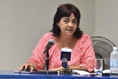 Aimée Coscolluela, directora de Asesoría Jurídica y Relaciones Internacionales de la ONEI. Foto: Omara García Mederos/ACN.