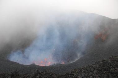 Fumarolas formadas por el volcán Tolbachik, Rusia. Foto: St Petersburg University