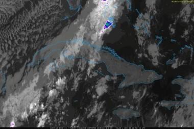 Frente frío incide sobre Cuba